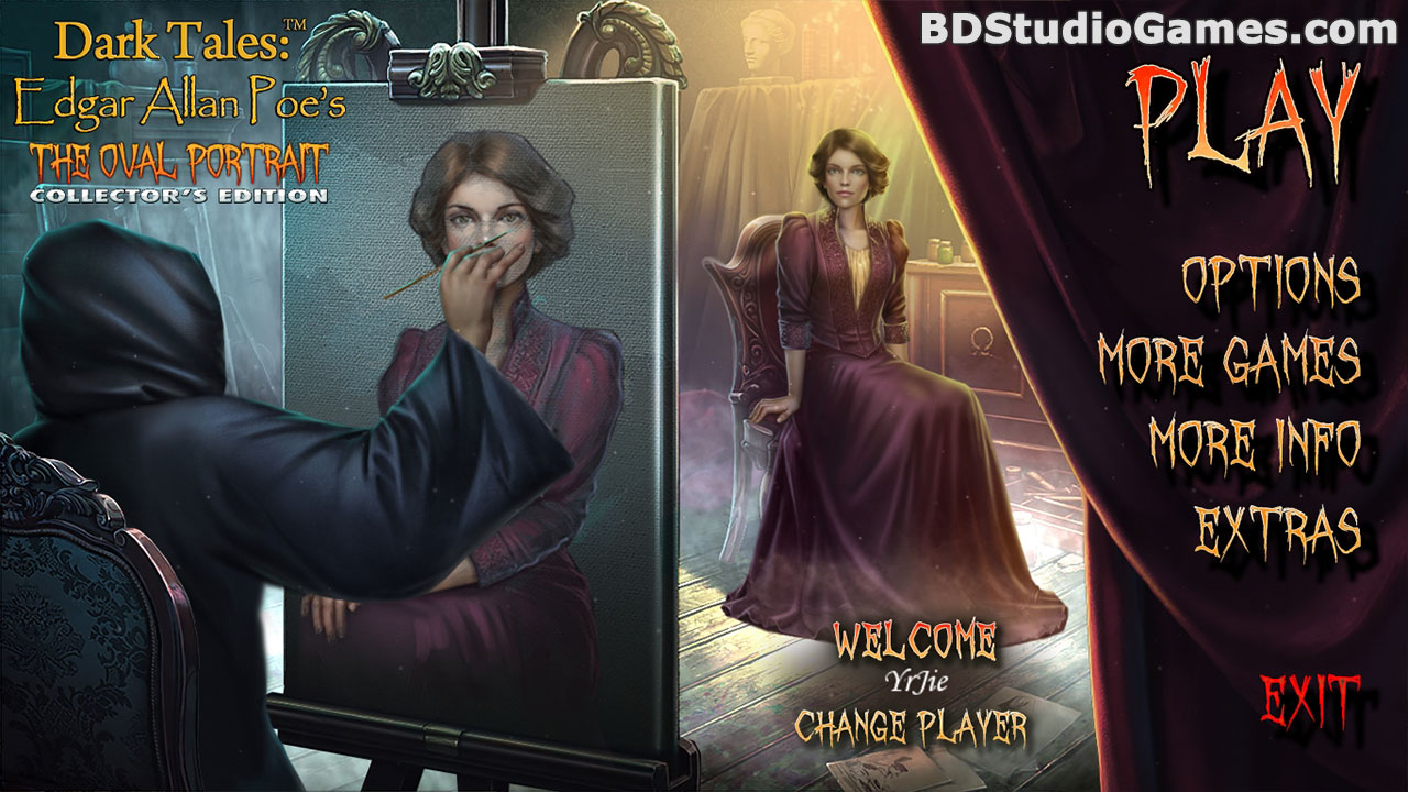 Dark Tales: Edgar Allan Poe's The Oval Portrait Collector's Edition Free Download Screenshots 1