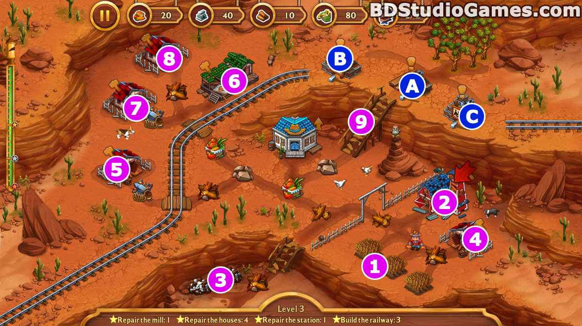 Golden Rails: Tales of the Wild West Walkthrough, Guides and Tips Screenshots 03