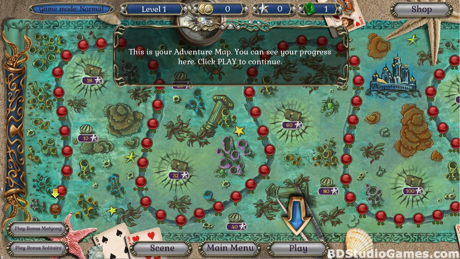 Jewel Match Atlantis Solitaire Free Download Screenshots 02
