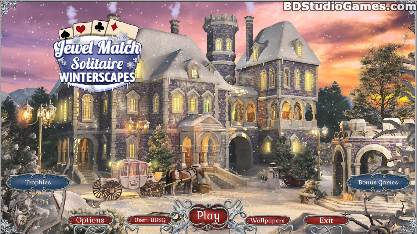 Jewel Match Solitaire: Winterscapes Game Download Screenshots 1