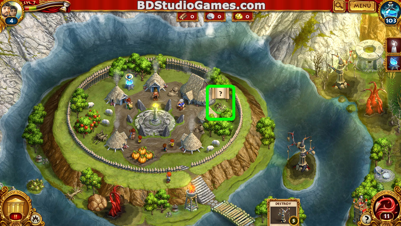 Roman Adventures: Britons Season One Caches Locations Level 8 Screenshots 1