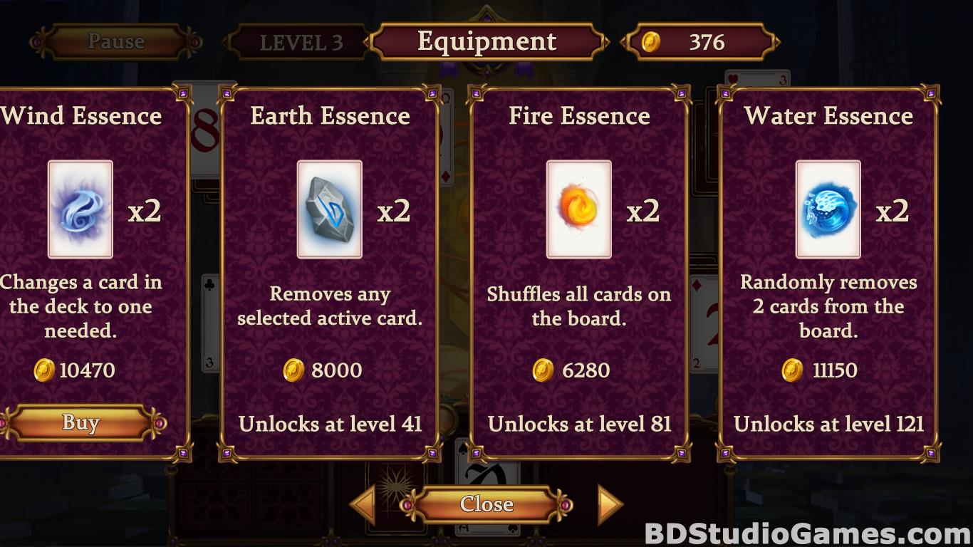 Solitaire: Elemental Wizards Free Download Screenshots 13