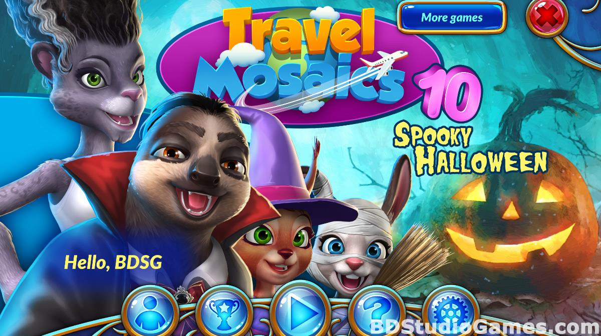 Travel Mosaics 10: Spooky Halloween Game Download Screenshots 01