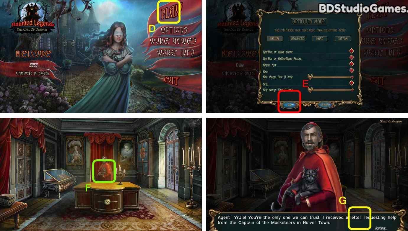 Haunted Legends: The Call of Despair Walkthrough Screenshot 0001