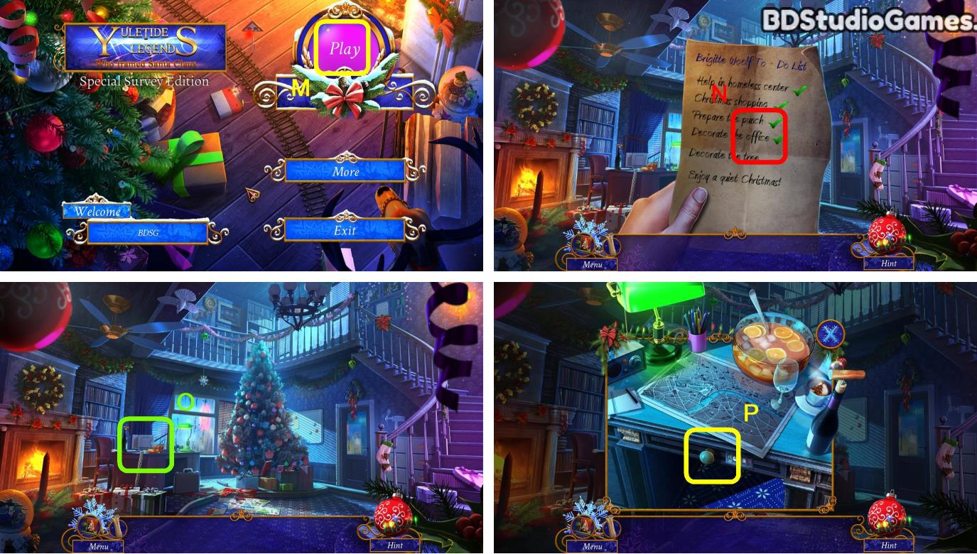 Yuletide Legends: Who Framed Santa Claus Walkthrough Screenshot 0001
